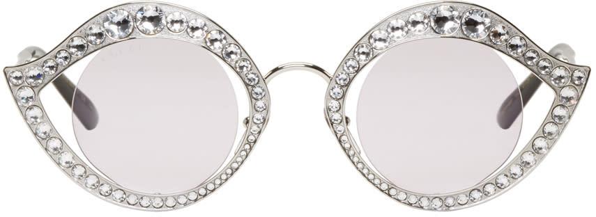 9c8f1e1308f Gucci Silver Crystal Cat eye Sunglasses