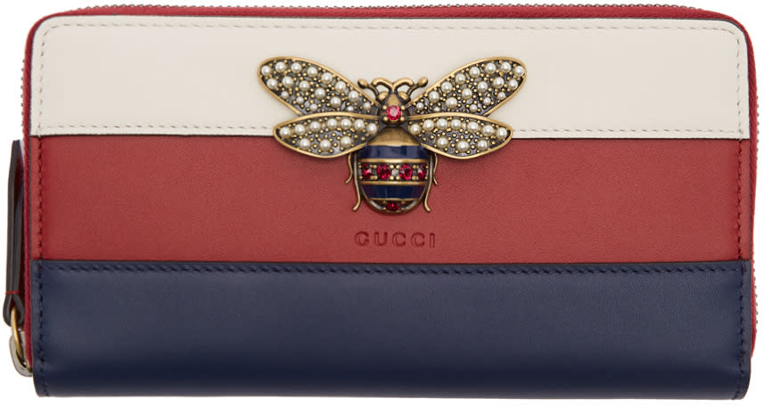 bcfe5a57e68 Gucci Tricolor Queen Margaret Zip Around Wallet