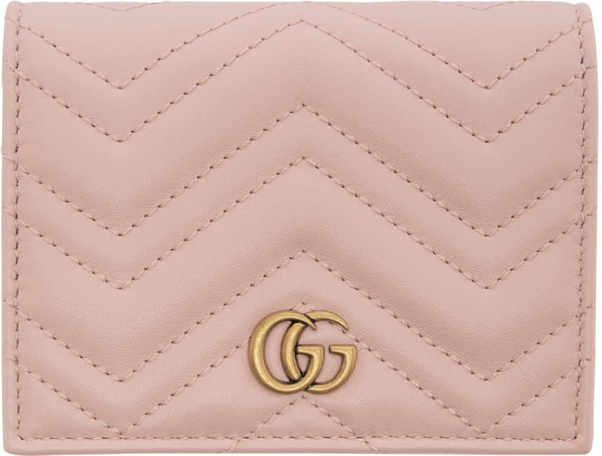 Gucci ピンク スモール Gg マーモント ウォレット