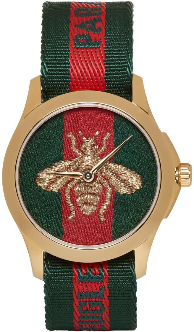 Gucci Gold le Marche Des Merveilles Watch