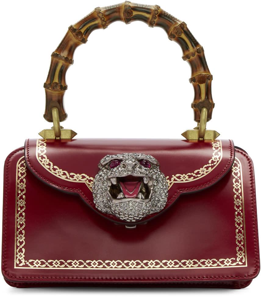 Gucci レッド ミニ ガット スワロフスキー タイガー バッグ