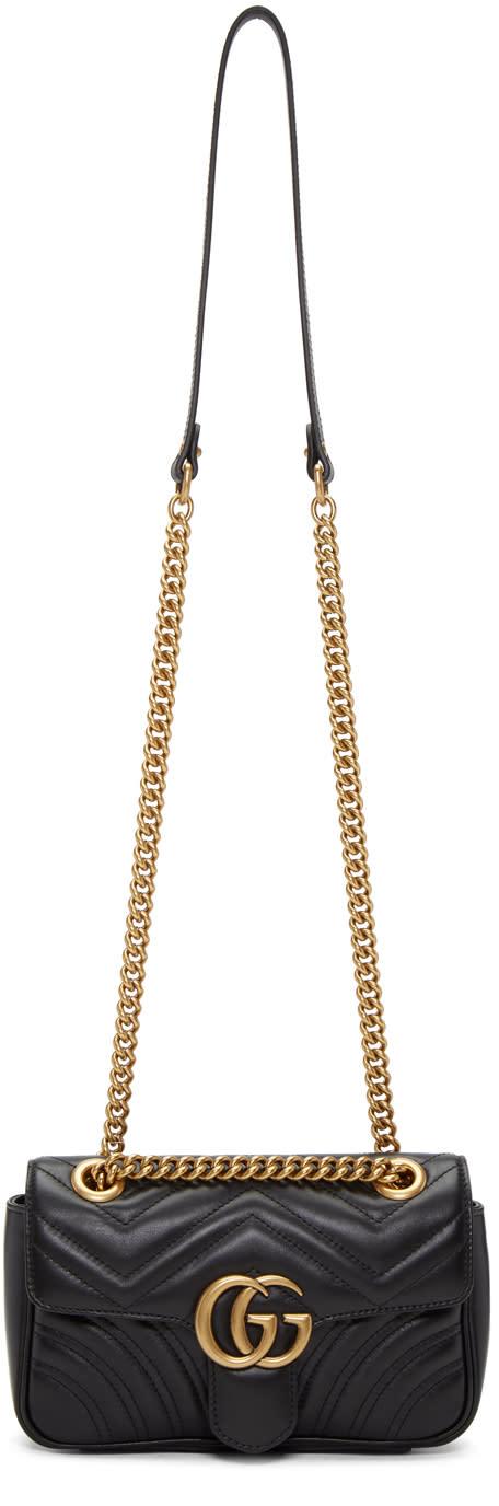 Gucci Black Mini Marmont 2.0 Shoulder Bag
