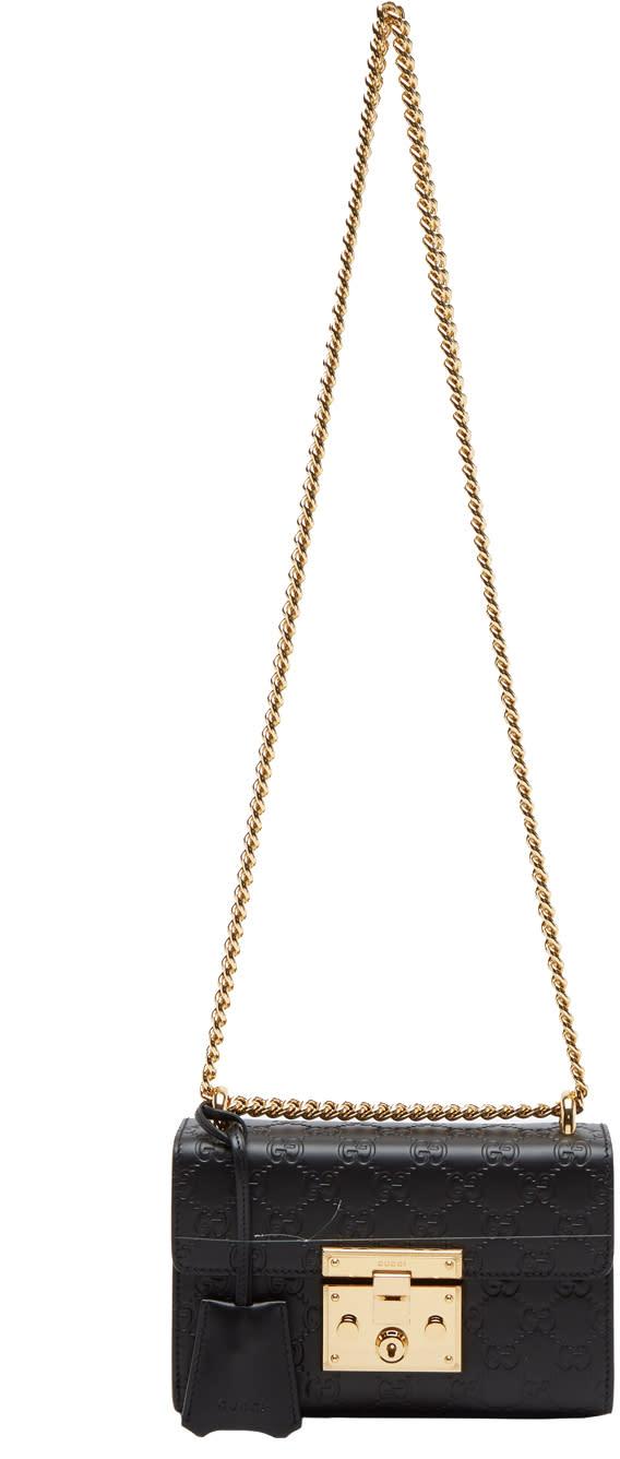 1a8afbdaed9f Gucci Black Small Gg Signature Padlock Bag