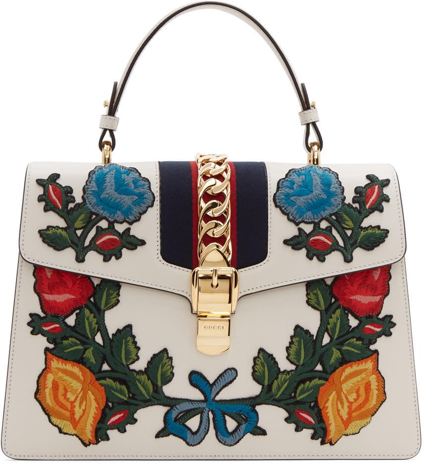 Gucci Sac Blanc Medium Floral Sylvie