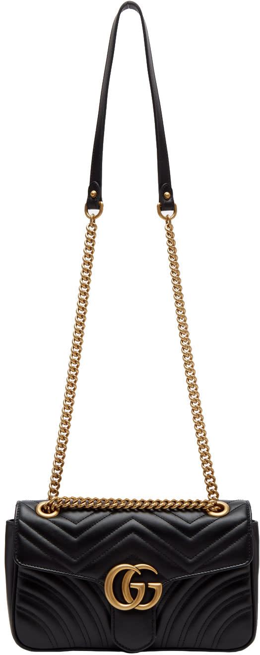 Gucci Black Small Gg Marmont 2.0 Bag