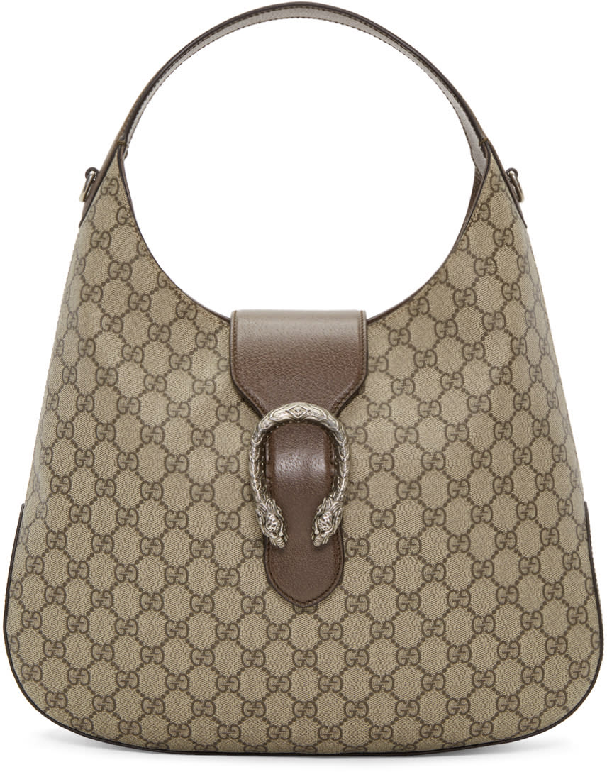 7a4bccdbc7b Gucci Beige Gg Supreme Dionysus Hobo Bag