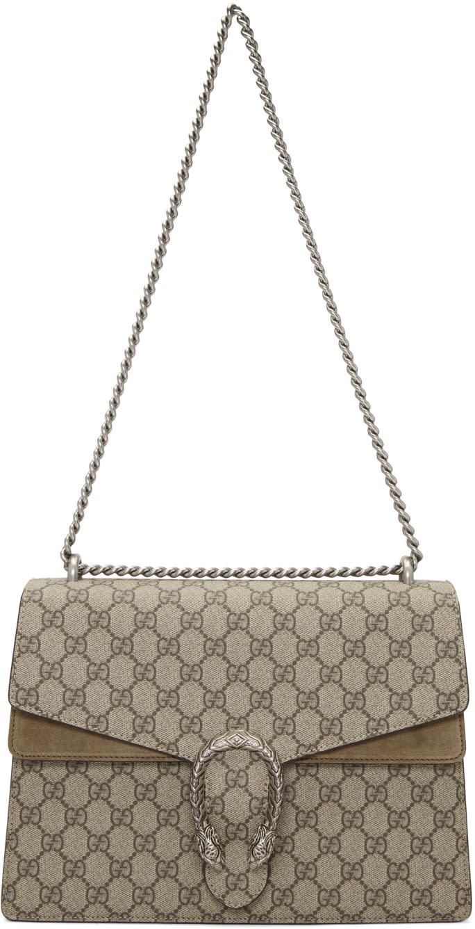 Gucci Beige Medium Gg Supreme Dionysus Bag 6aca677f92fc