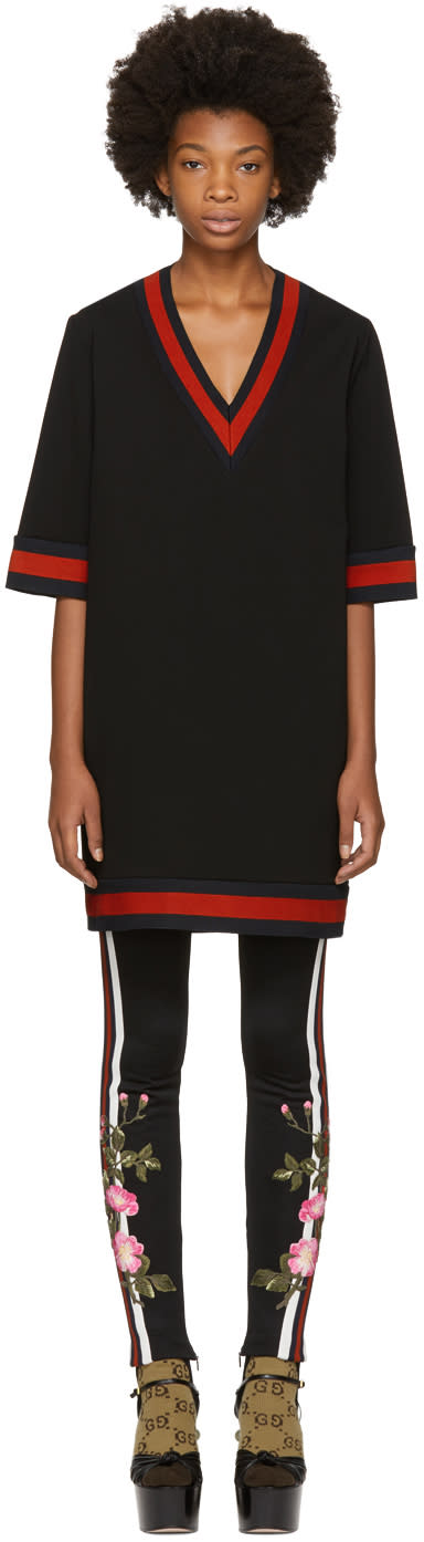 Gucci Black Stretch Viscose Web Dress