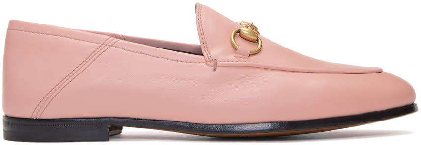 71ab57155bd Gucci Pink Brixton Loafers