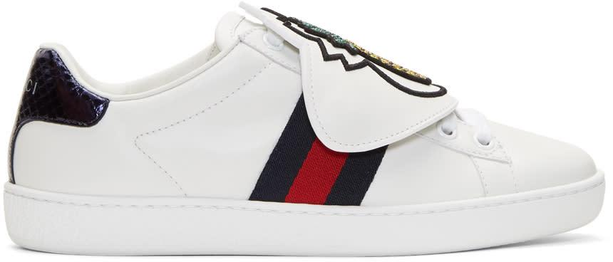 2e85a38ad4e Gucci White Pineapple Ace Sneakers