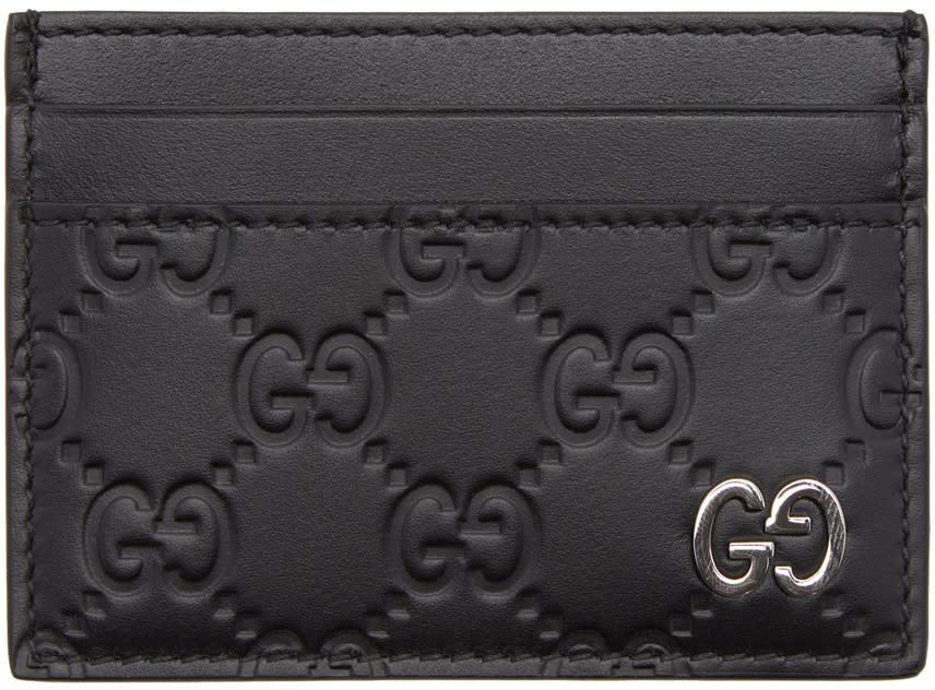 0f0ee5781d3 Gucci Black gucci Signature Card Holder