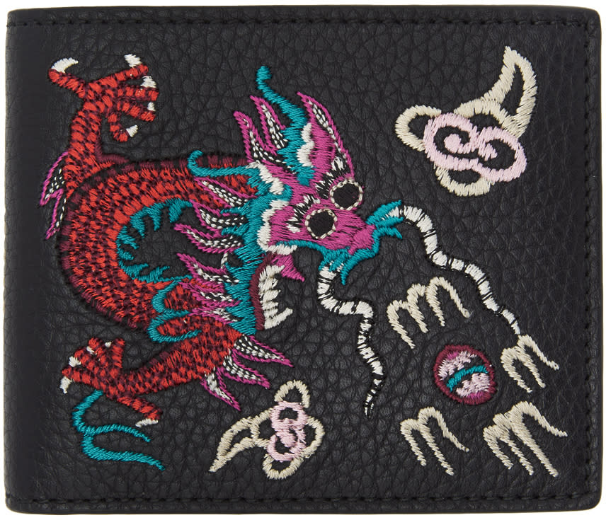 Image of Gucci Black Chinese Dragon Wallet