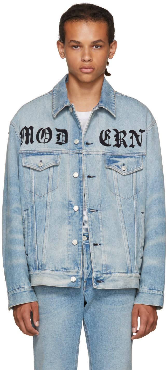 Gucci ブルー デニム Modern ジャケット