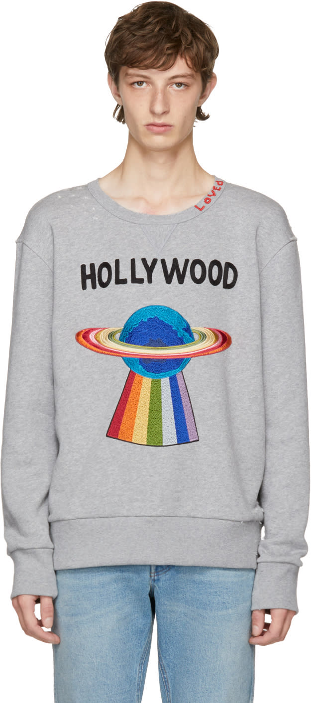 a5cb1204060 Gucci Grey hollywood Saturn Sweatshirt