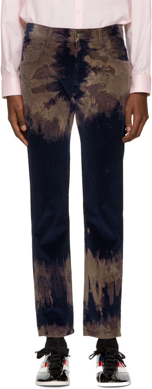 Gucci Pantalon à Effet Tie-dye Bleu Punk