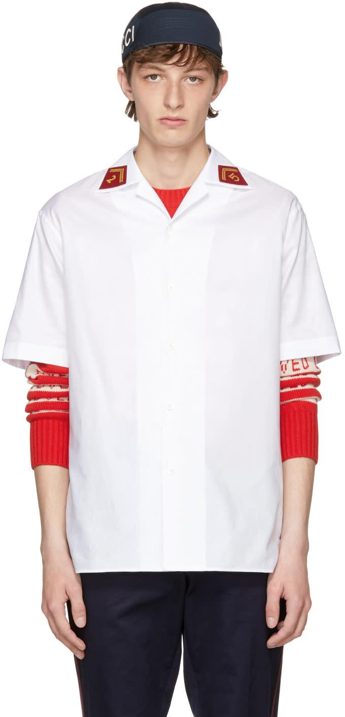 96f879a5e1eb Gucci White Saturn Bowling Shirt