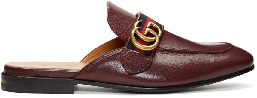 Gucci Burgundy Gg Kings Slip-on Loafers