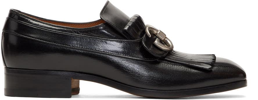 Gucci Black Novel Loafers