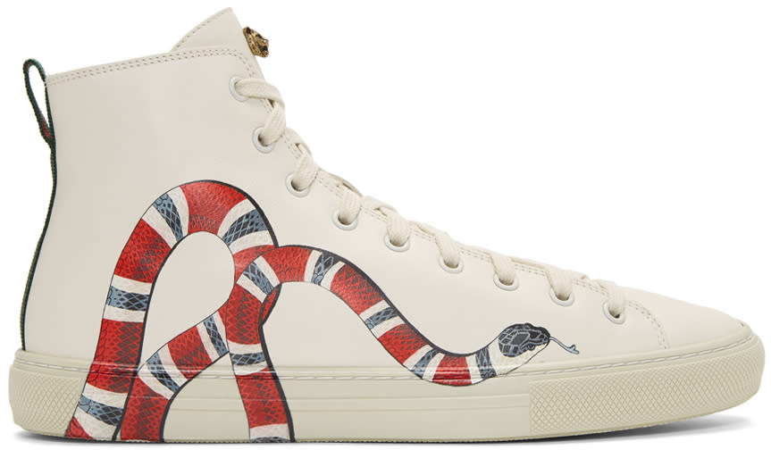 Gucci Off-white Snake Major High-top Sneakers