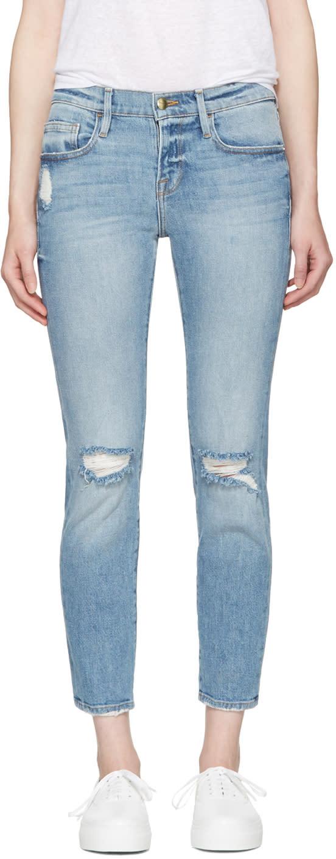 Frame Denim Blue le Boy Jeans