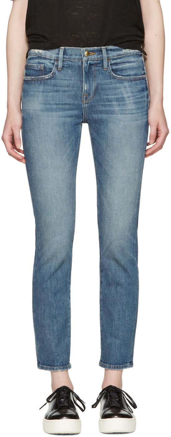 Frame Denim Indigo le Boy Jeans