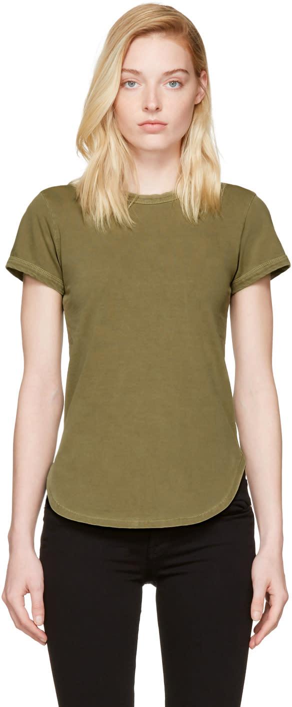Frame Denim Green Ringer T-shirt