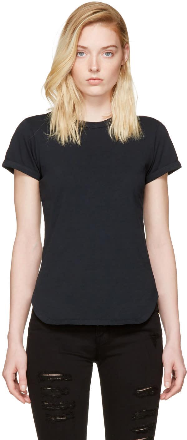 Frame Denim Black Ringer T-shirt