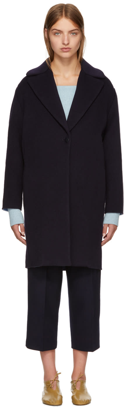 Image of Cédric Charlier Black Wool Coat