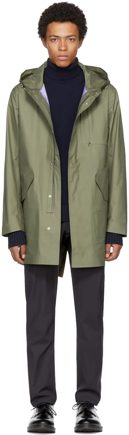 Image of Nanamica Green Gore-tex Shell Coat