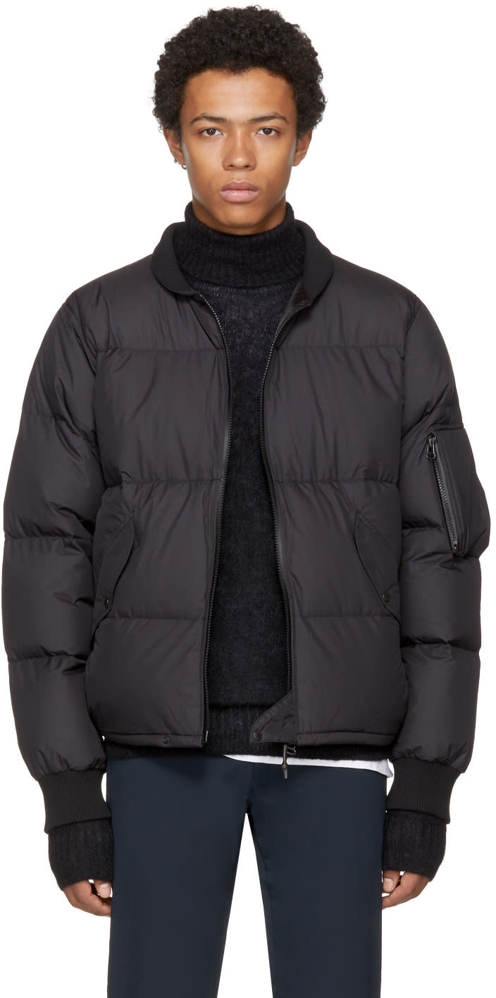 Image of Nanamica Black Down Ma-1 Bomber Jacket