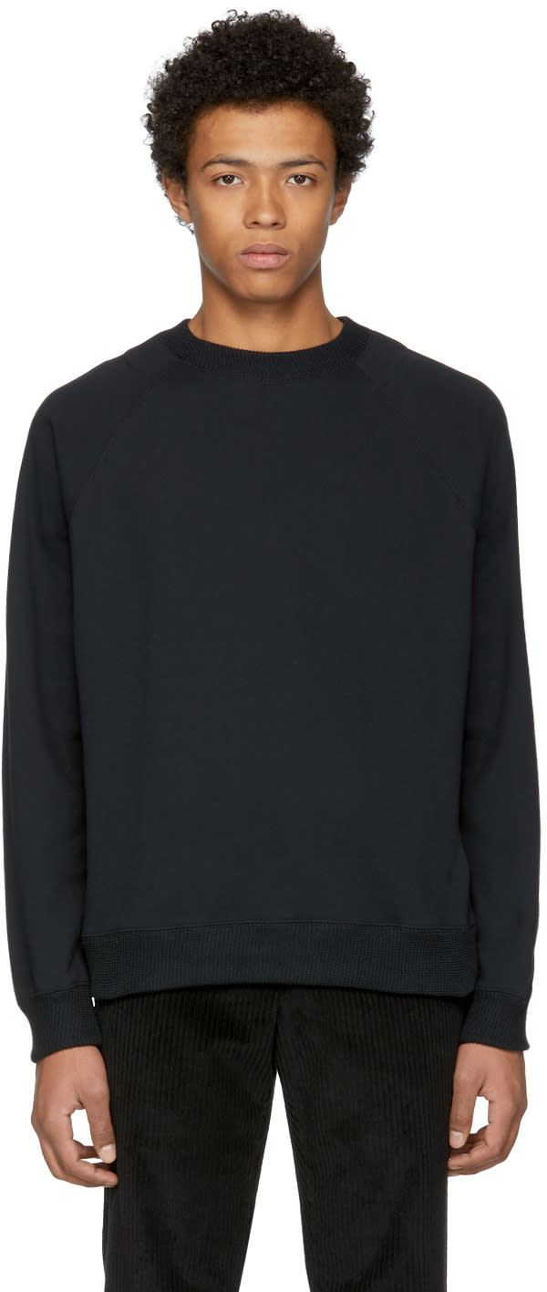 Image of Nanamica Black Crewneck Sweatshirt