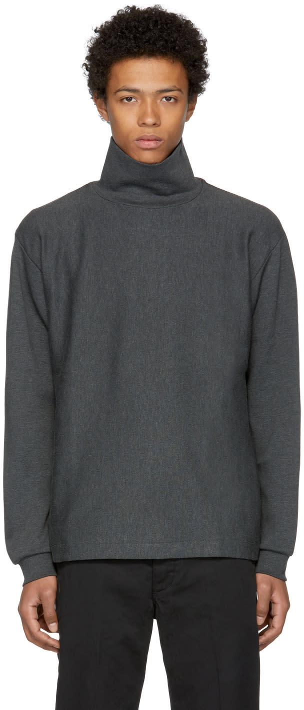 Image of Nanamica Grey Long Sleeve Turtleneck