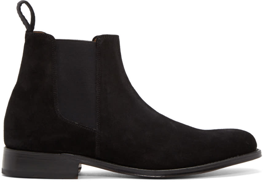Image of Grenson Black Suede Declan Boots