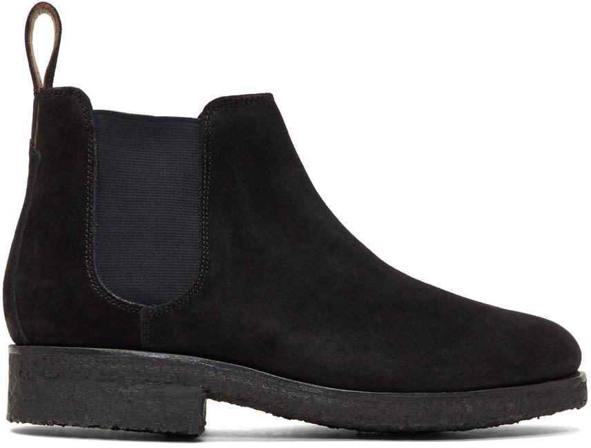 Image of Grenson Black Suede Hayden Chelsea Boots