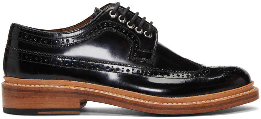Image of Grenson Black Patent Sid Brogues