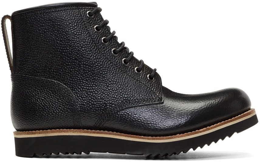 Image of Grenson Black Dawson Lace-up Boots