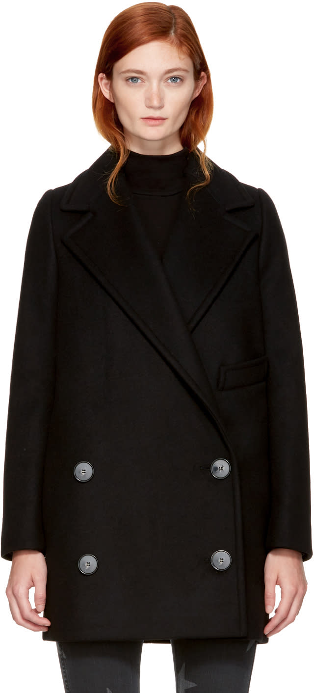 Stella Mccartney Black Edith Coat