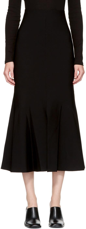 Stella Mccartney Black Flare Skirt
