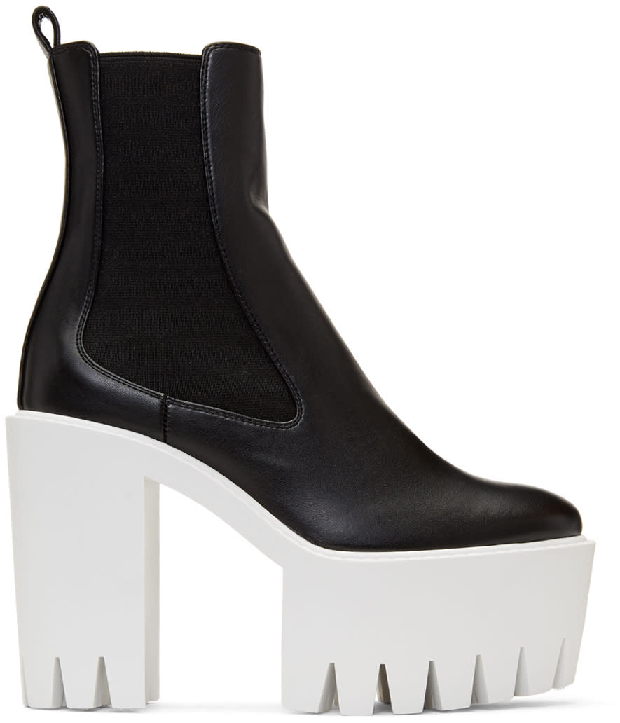 Stella Mccartney Black Monster Boots
