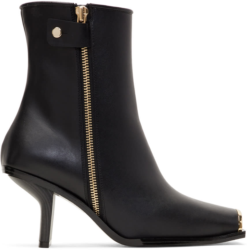 Stella Mccartney Black Metallic Toe Boots
