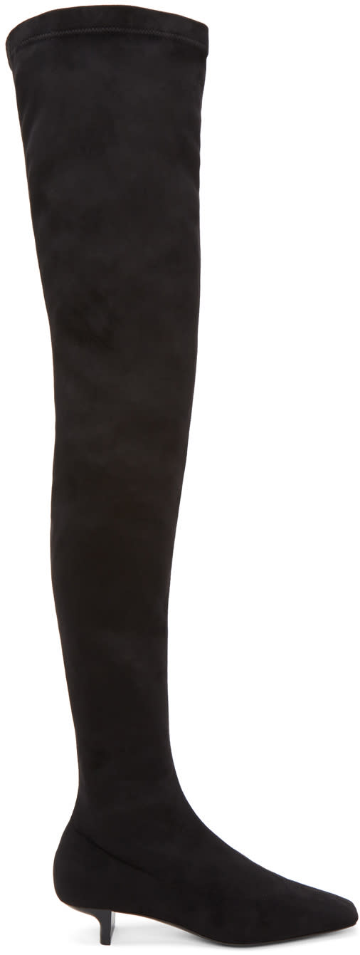 Stella Mccartney Black Square Over-the-knee Boots