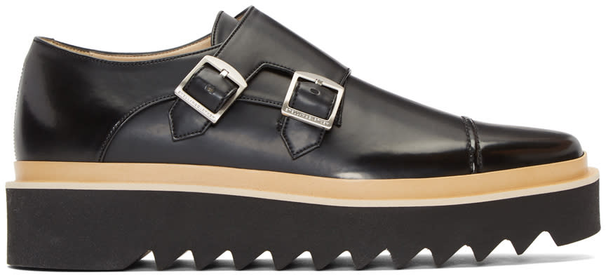 Stella Mccartney Black Creeper Monkstraps