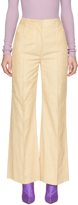 Image of Nina Ricci Beige Wide-leg Trousers