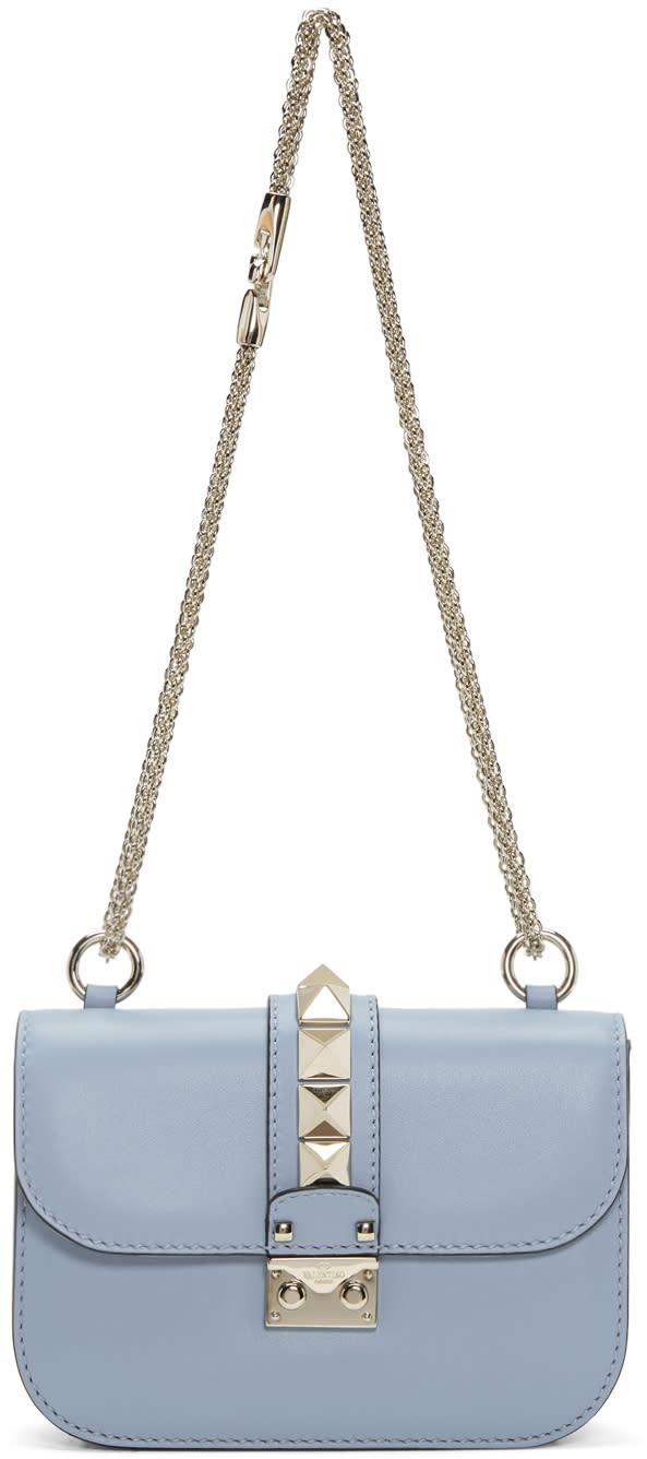 Valentino Blue Small Rockstud Lock Bag