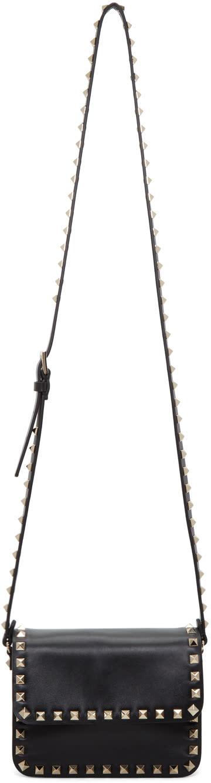 Valentino Black Mini Rockstud Flap Bag