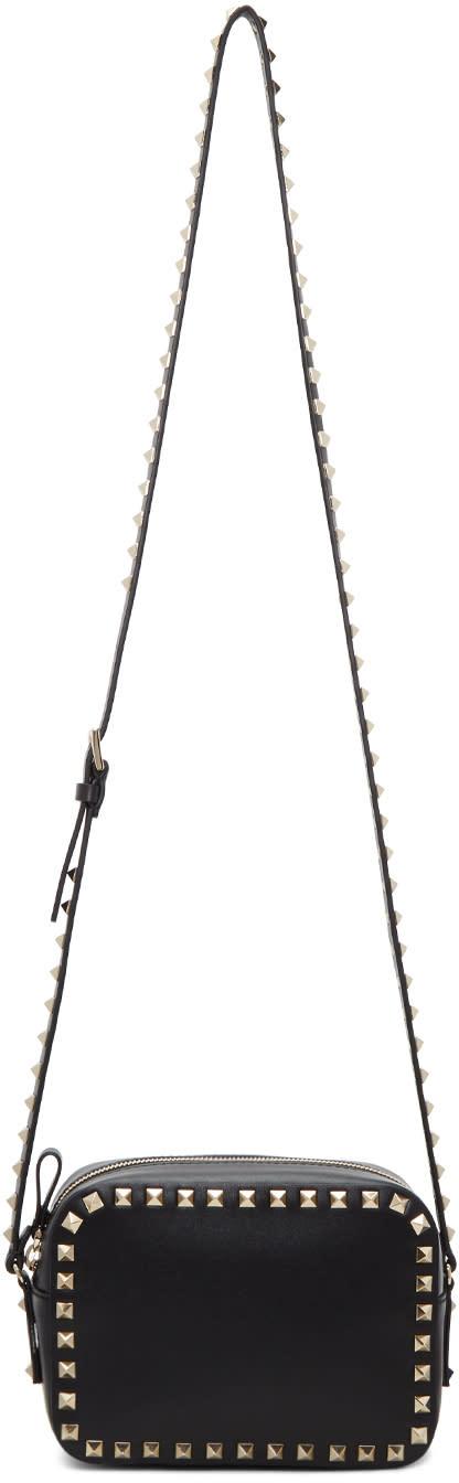 Valentino Black Rockstud Camera Bag
