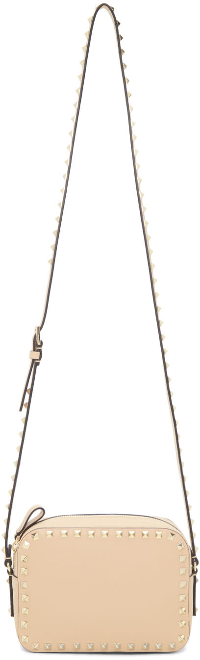 Valentino Beige Rockstud Camera Bag