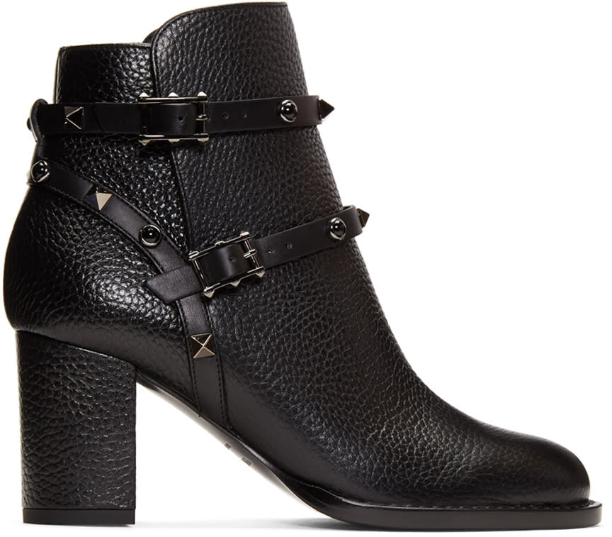 ValentinoBlack Valentino Garavani rockstud Noir Boots