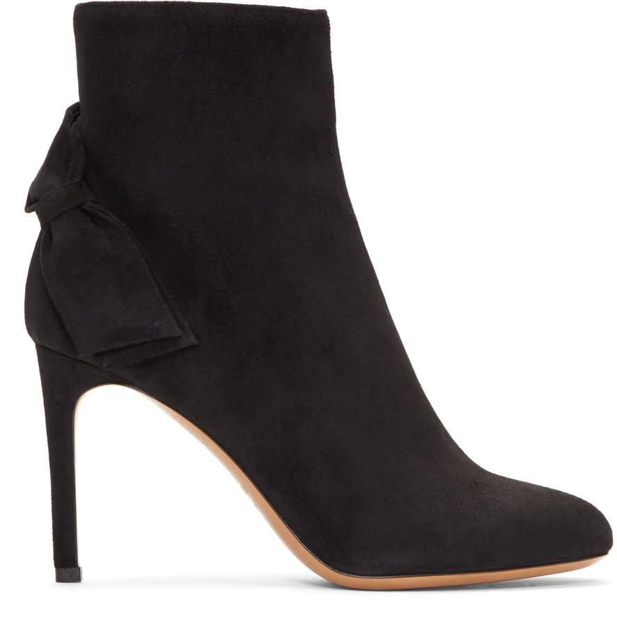ValentinoBlack Valentino Garavani Suede Pretty Bow Boots
