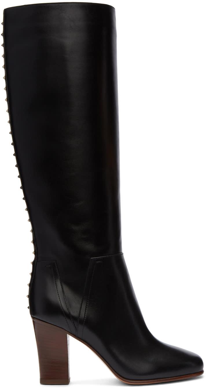 ValentinoBlack Valentino Garavani Lovestud Knee-high Boots